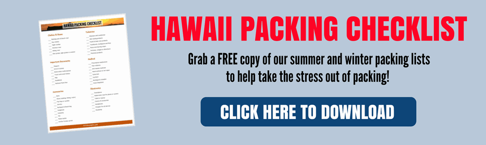 Hawaii Packing Checklist - click to subscribe