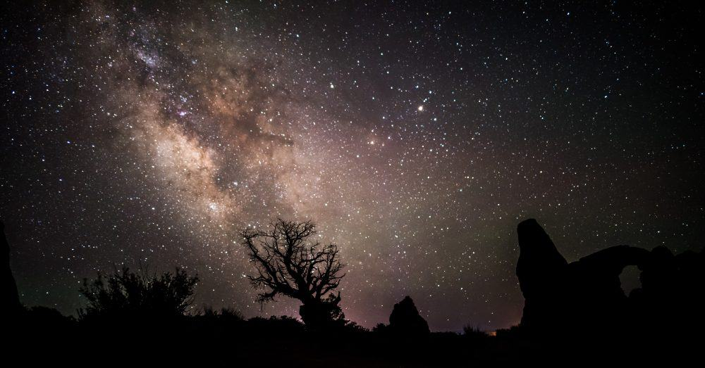 Milky Way near Turret Arch at Arches National Park, Utah.