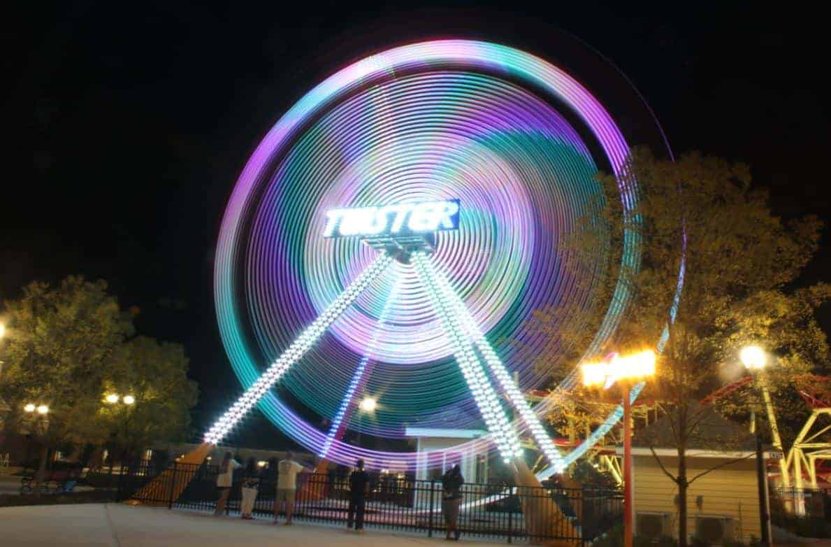 Twister Ride blurred photo that needs photo editing.