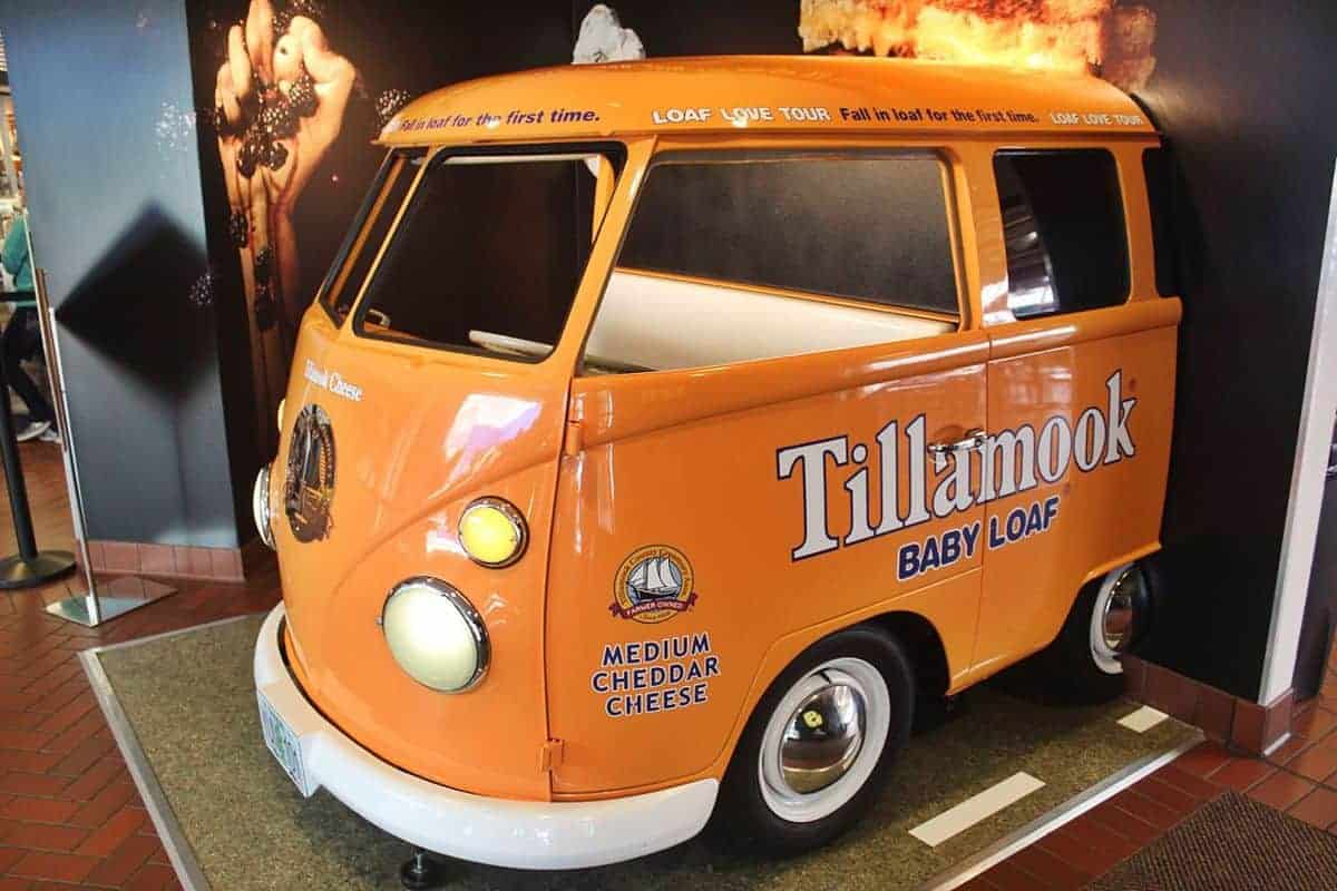 Sample cheese and ice cream at the Tillamook Cheese Factory.