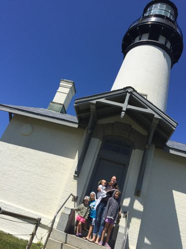 Yaquima Head Lighthouse is a fun stop near Portland with kids.