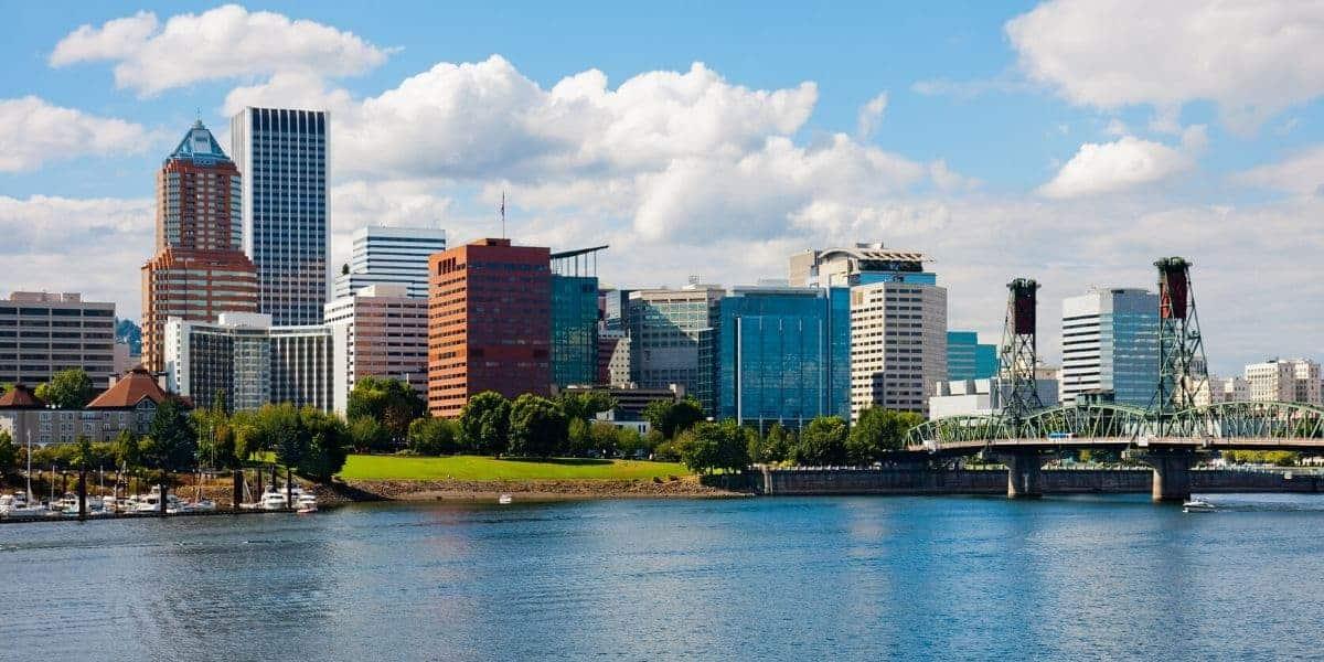 Downtown Portland, Oregon skyline.
