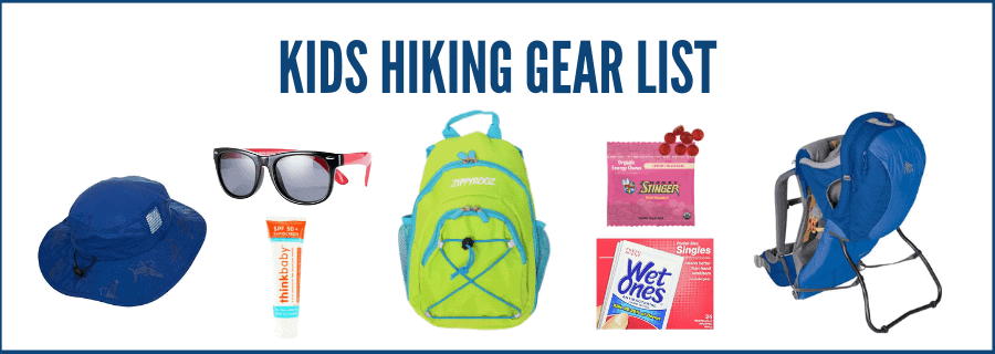 Hiking gear with kids