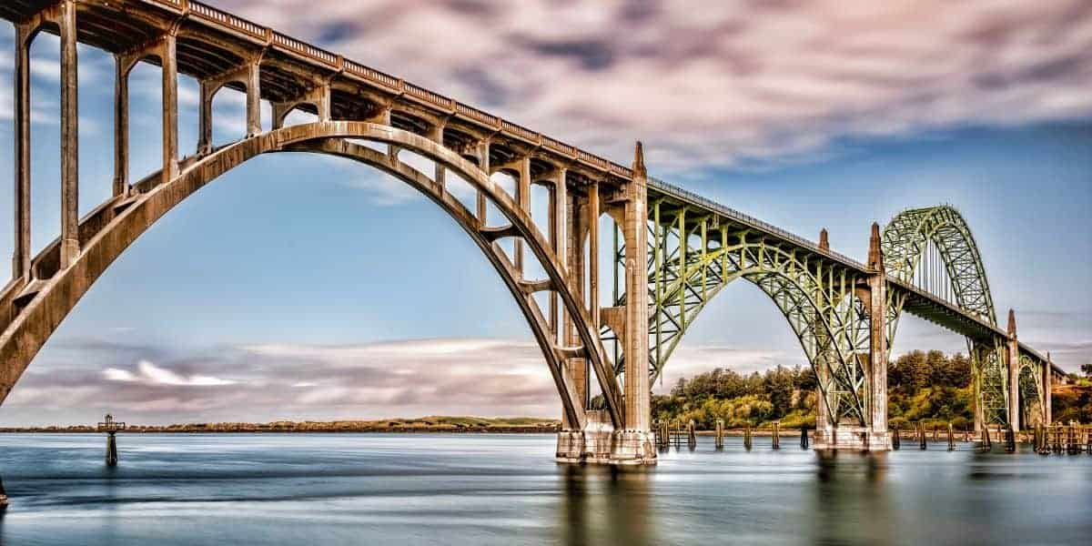 Yaquina Bay Bridge in Newport, Oregon.
