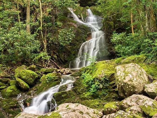 Waterfall at Great Smoky Mountains National Park - US National Park List: 25 Beautiful Parks to Visit