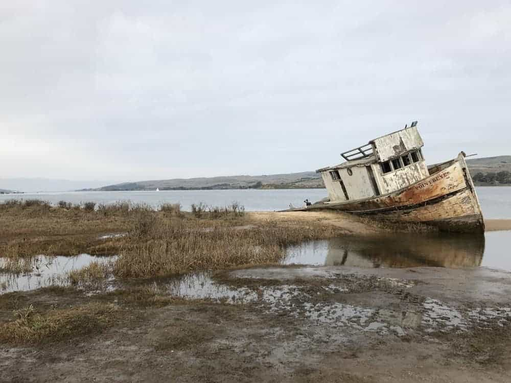 Old ship grounded at Point Reyes National Seashore - US National Park List: 25 Beautiful Parks to Visit