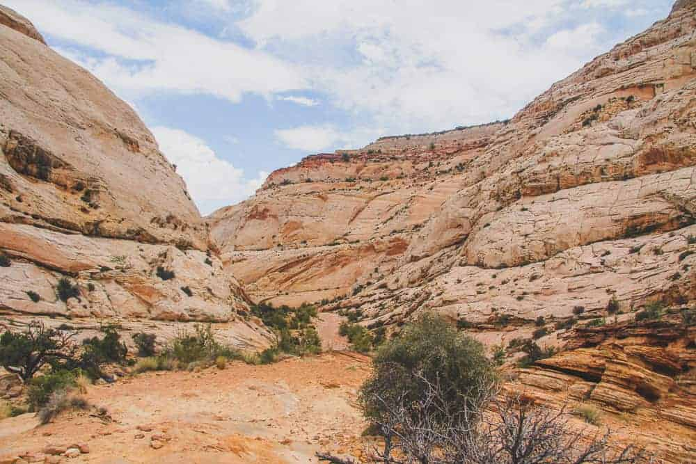 Capitol Reef hikes - Capitol Gorge Wash