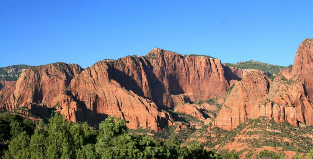 Red rock mountains at Zion National Park - US National Park List: 25 Beautiful Parks to Visit