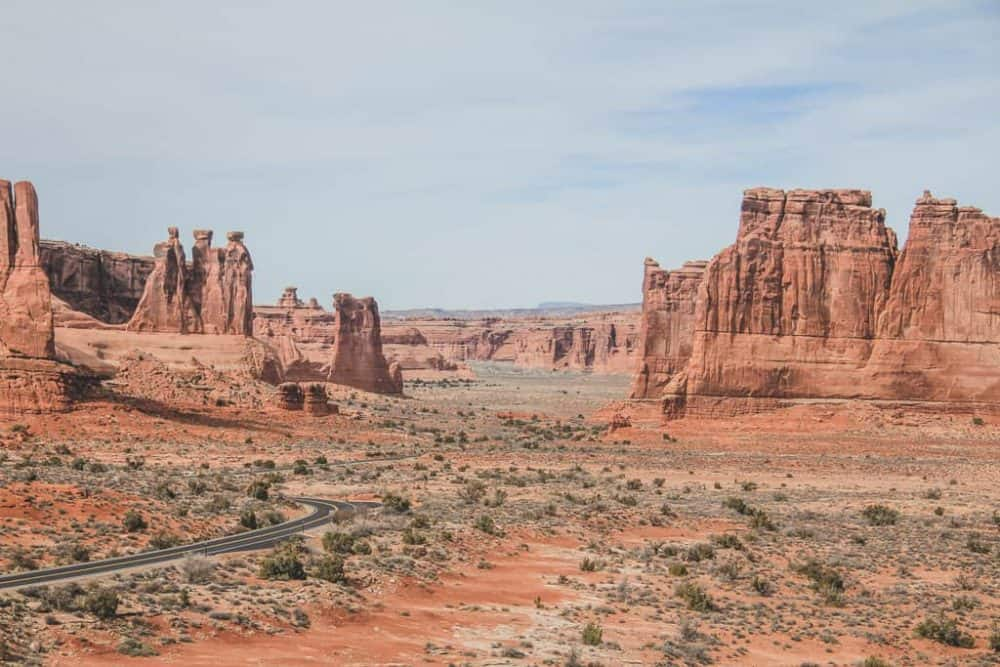 Scenic Drive view at Arches National Park