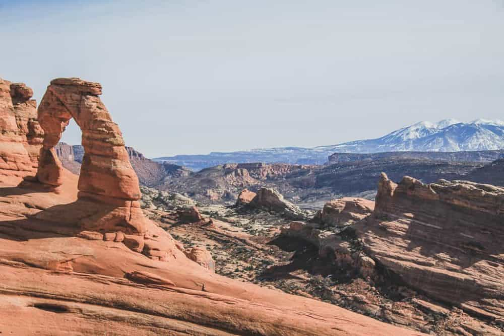 Delicate Arch Hiking Trail at Arches National Park