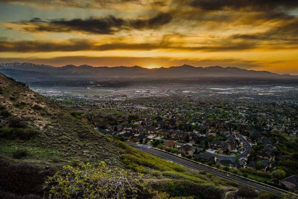 Draper Utah sunset