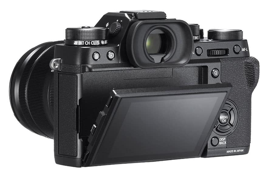 Fujifilm X-T2 mirrorless camera back