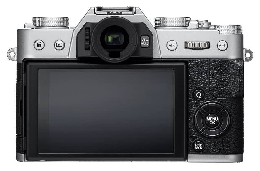 Fujifilm X-T20 mirrorless travel camera back