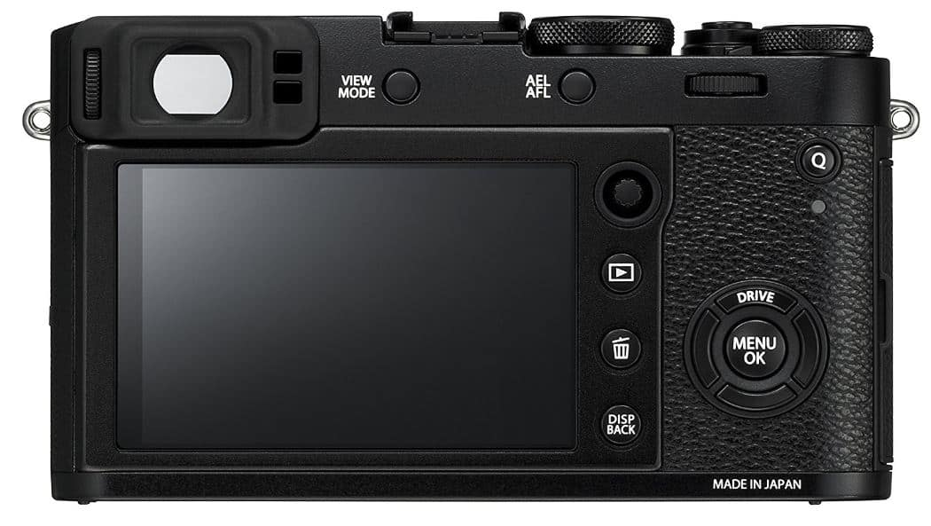 Fujifilm X100F Compact Travel Camera back