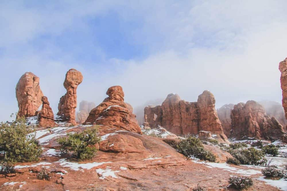 Garden of Eden hiking trail at Arches National Park
