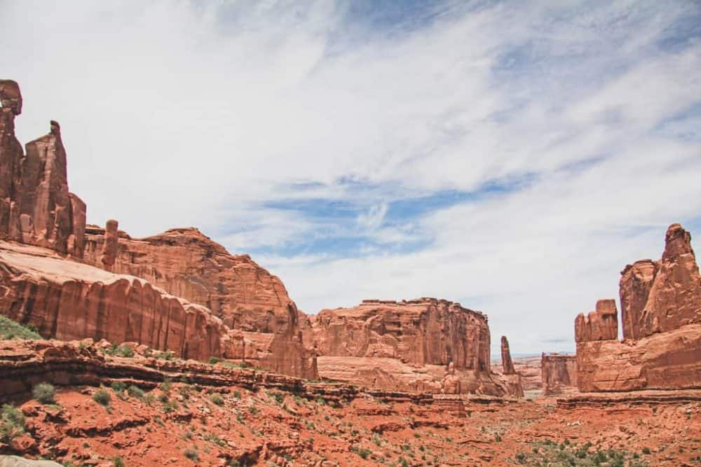 Park Avenue hiking trail at Arches National Park