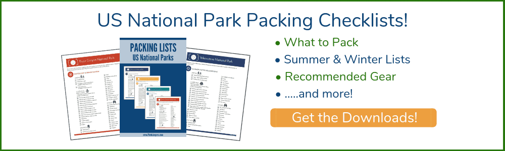 US national park packing lists - get the download