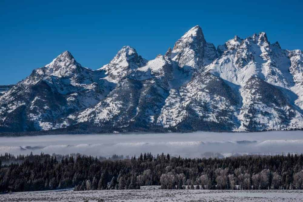 Grand Teton National Park in the winter