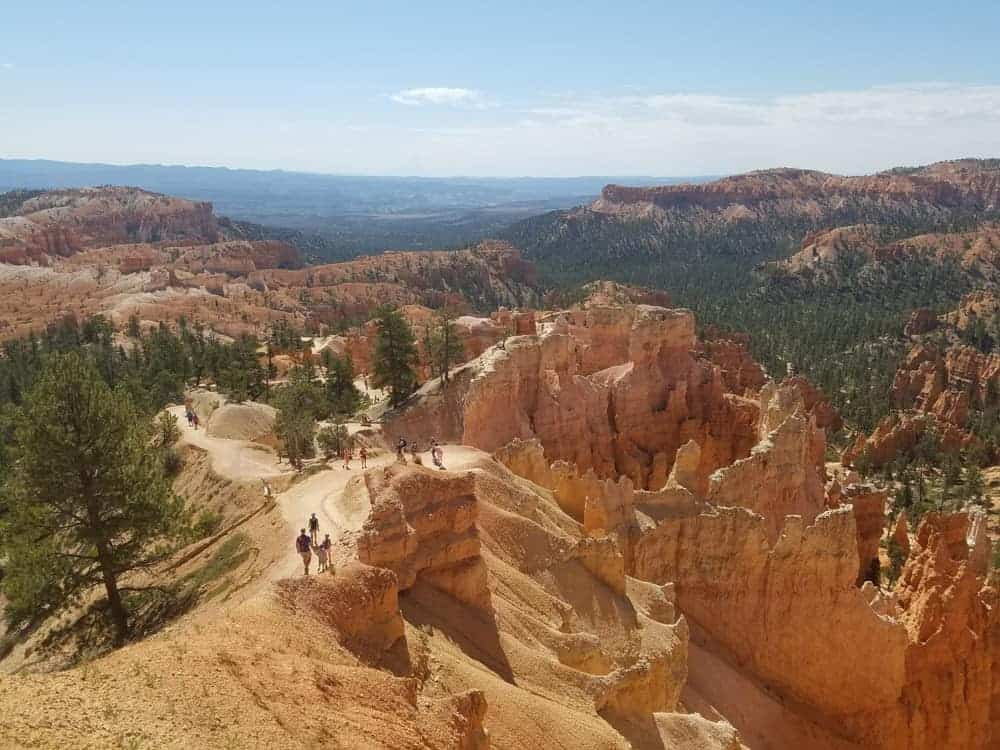 Hiking trails at Bryce Canyon US Southwest Road Trip