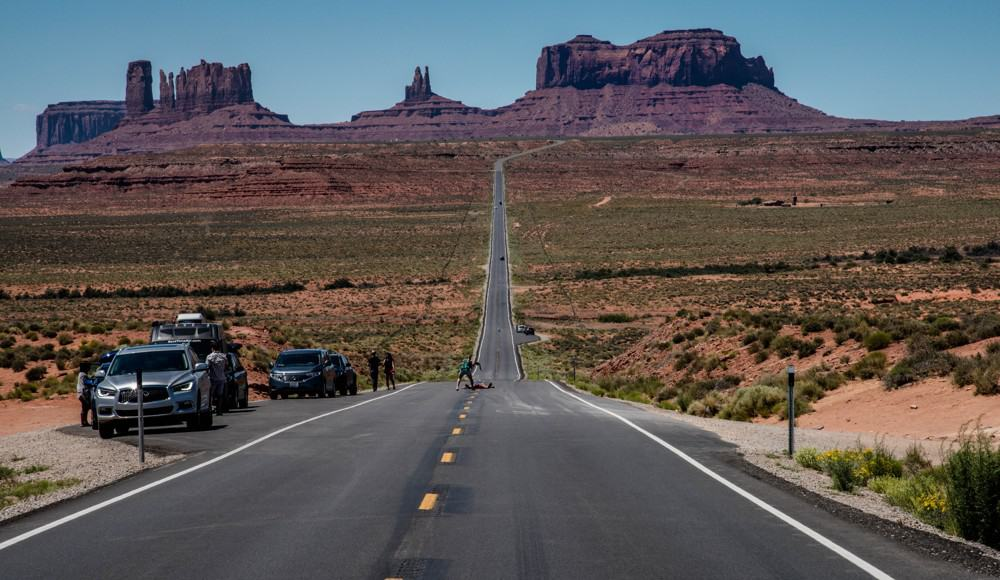 Forrest Gump Road near Monument Valley American Southwest road trip