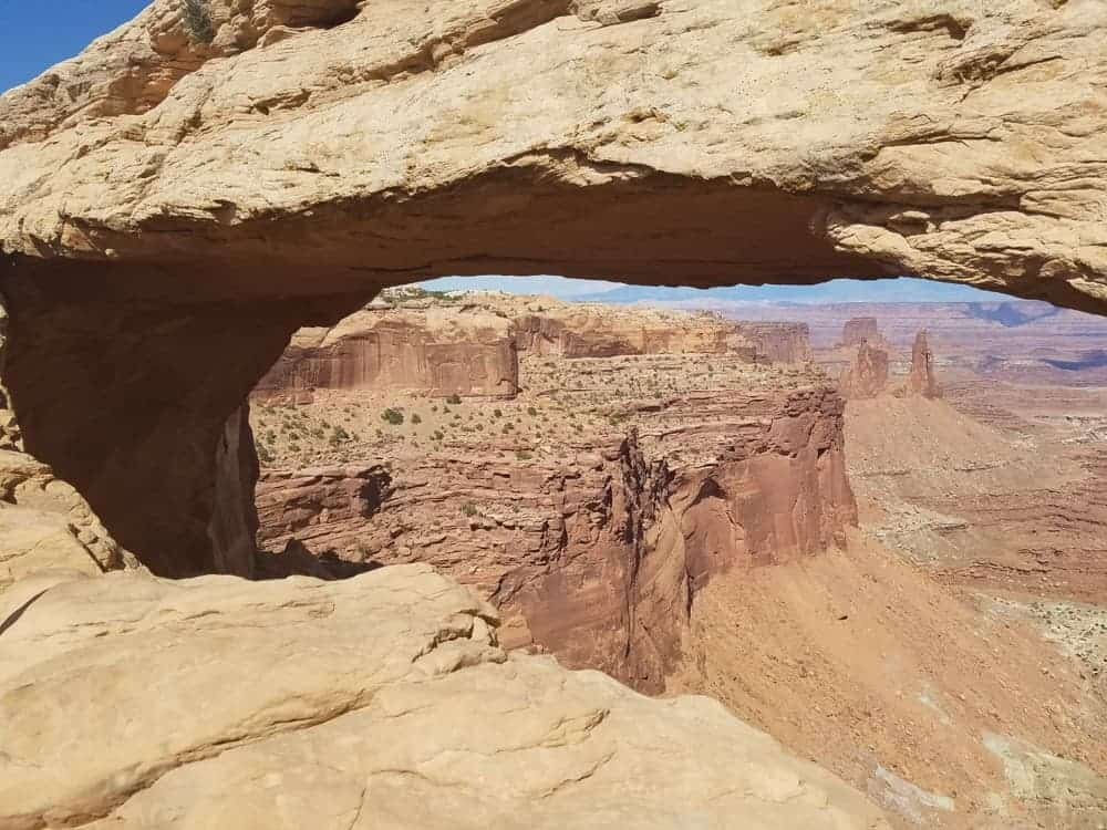 Mesa Arch at Canyonlands Island in the Sky Southwest US road trip