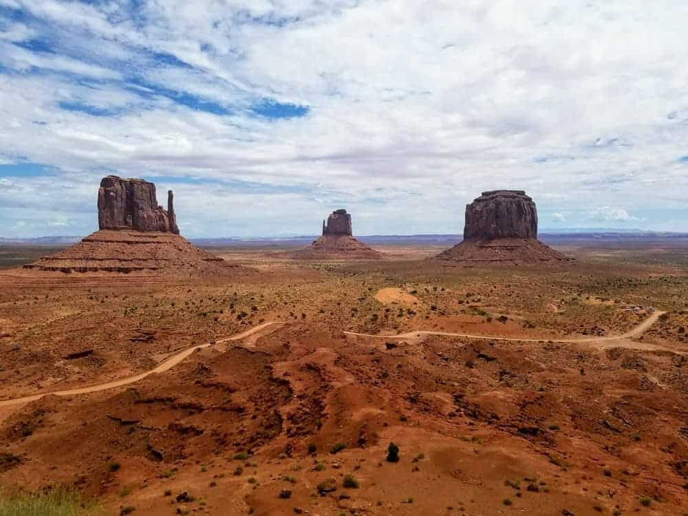 Iconic view of the mittens at Monument Valley US Southwest Road Trip