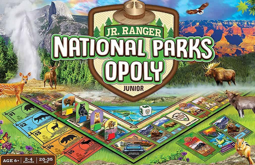 National Parks Opoly Junior board game: National Parks with kids
