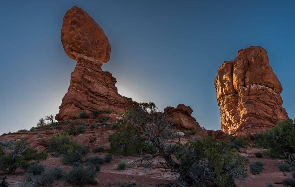 The gravity defying beauty of Balanced Rock.