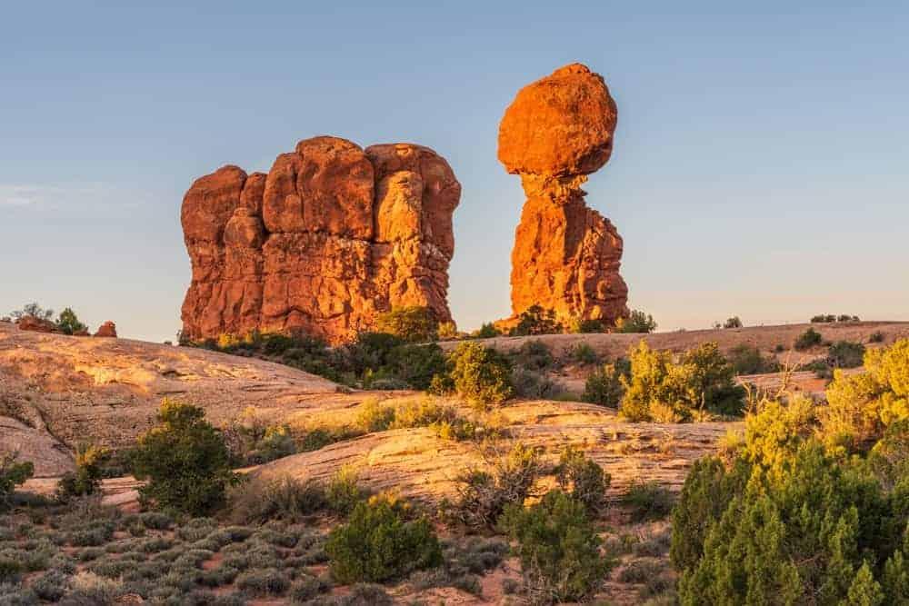 The gravity defying beauty of Balanced Rock.