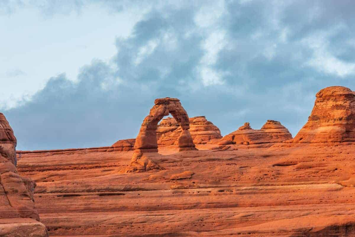 Delicate Arch from the viewpoint for those who can't hike the trail to see the arch up close.