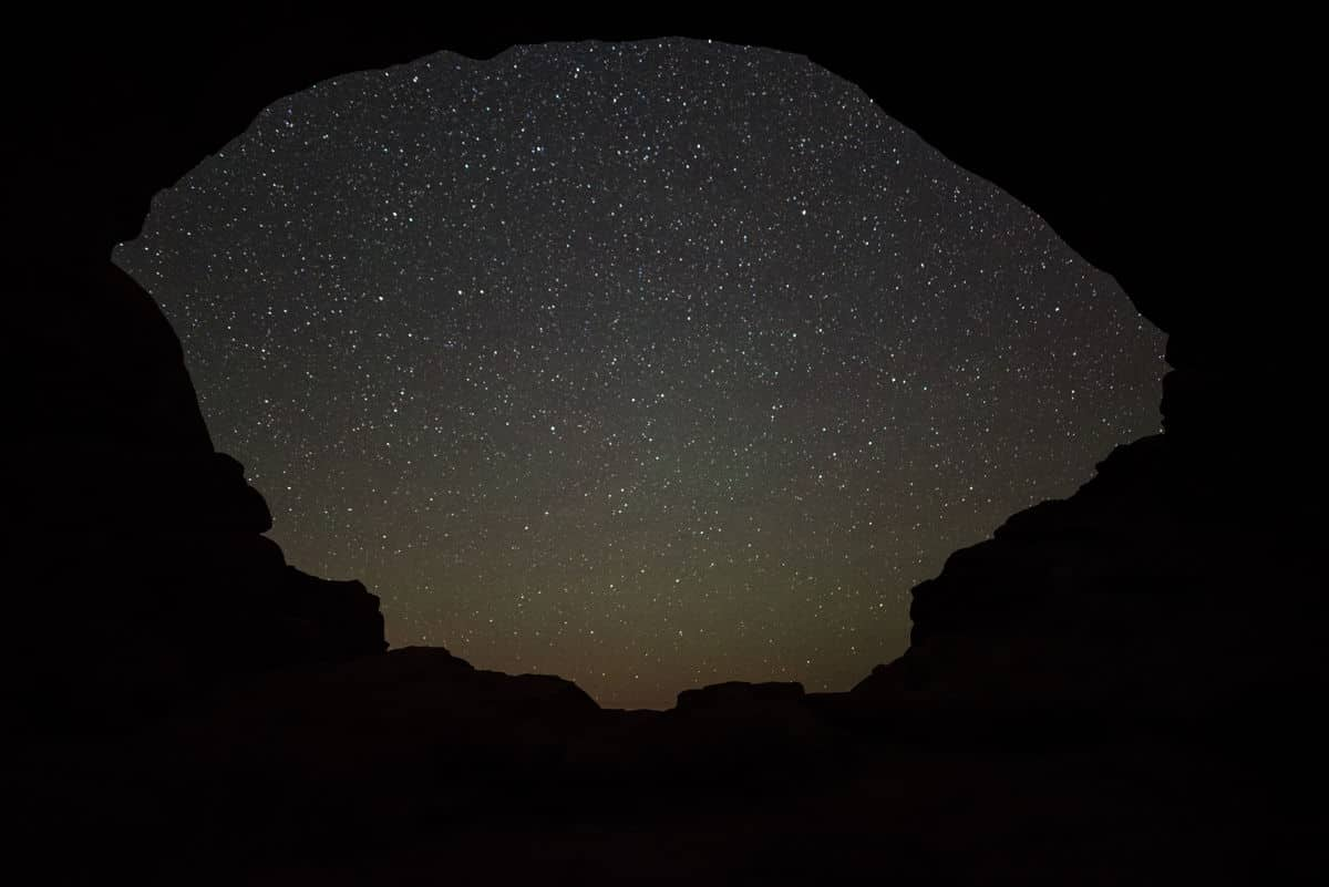Endless starry skies at Arches National Park.