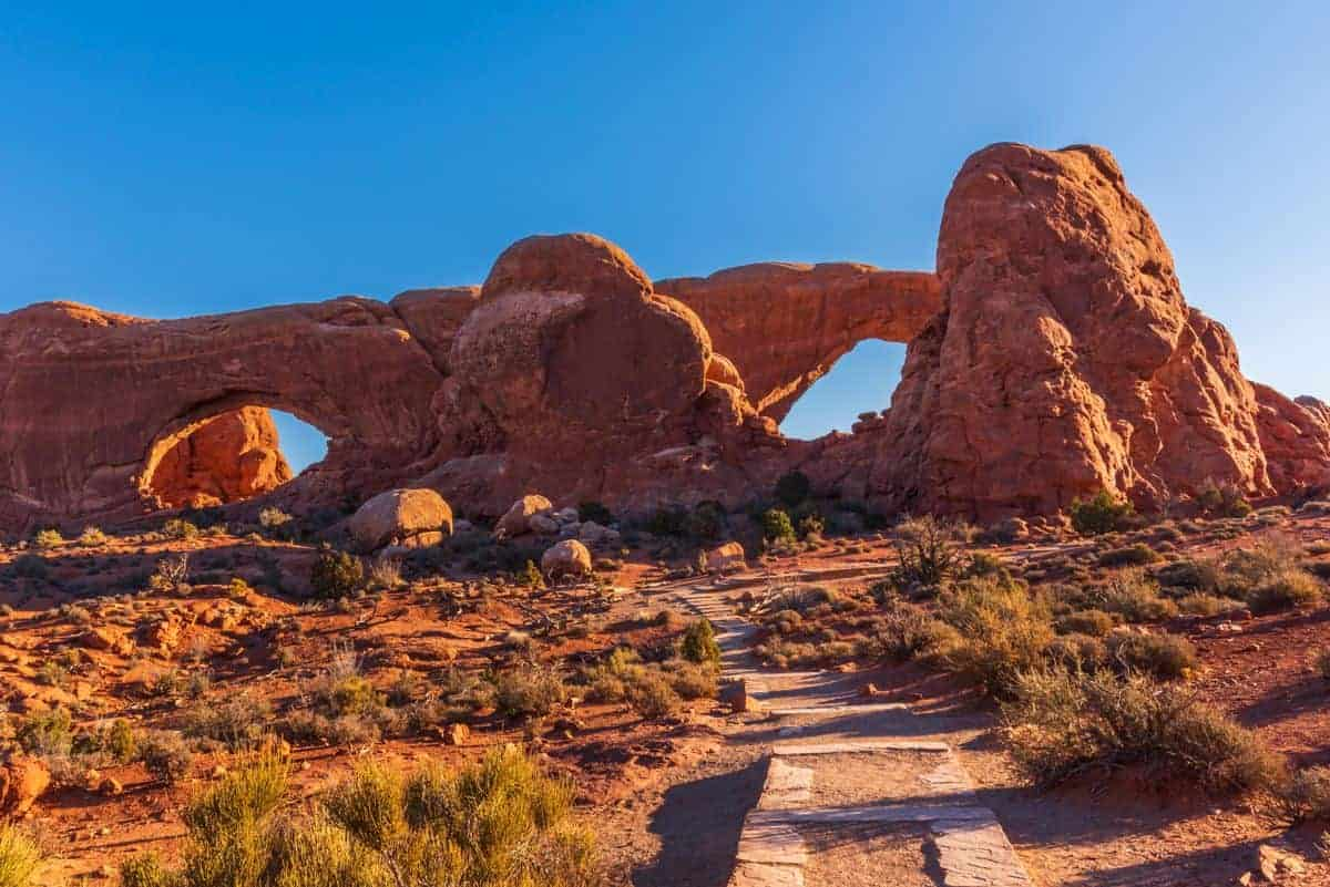 The Spectacles in the Windows area at Arches National Park.