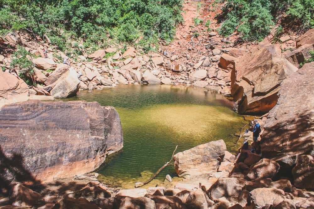 Upper Emerald Pool trail at Zion National Park in Utah