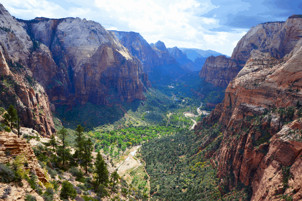 View from Angel's Landing at Zion National Park, Utah