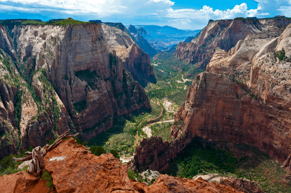 View from Observation Point at Zion National Park, Utah