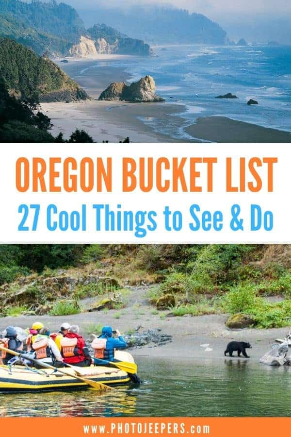 If Oregon is on your bucket list, be sure to add these 27 cool things to see and do. It includes Oregon cities to visit; Oregon museums; Oregon outdoor hiking trails; and more! #oregon #portland #bucketlist #traveldestination #photojeepers