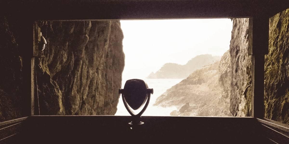 Sea Lion Caves along the Oregon coast