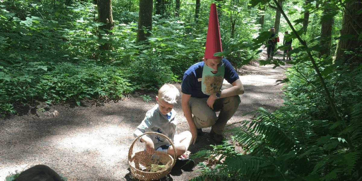 Fairy garden tour at the Tillamook Forest Center in Oregon.