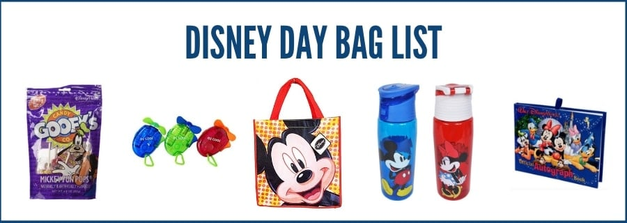 Disney Day bag list of items on Amazon