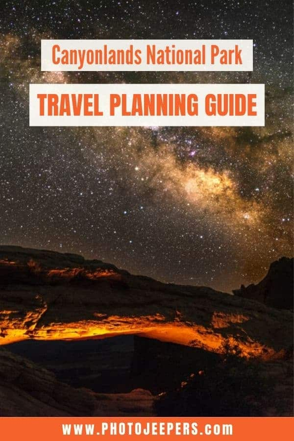 Planning a trip to Canyonlands? You'll want to use this guide: Canyonlands travel tips; what to pack for Canyonlands; where to stay near Canyonlands; things to do at Canyonlands; and more! #nationalparks #canyonlands #utah #travelplanning #photojeepers