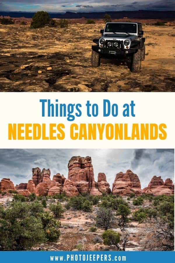 If your're looking for outdoor adventure, then Needles Canyonlands should be on your bucket list. There's hiking, biking, 4x4 offroading, and more! #nationalparks #canyonlands #utah #placestotravel #photojeepers