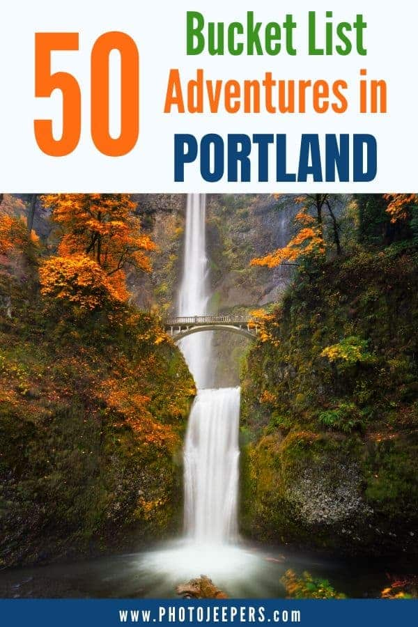 50 bucket list adventures in Portland: museums, gardens, city attractions, state and national parks, coastal beaches and more! #oregon #portland #bucketlist #travedestination #photojeepers