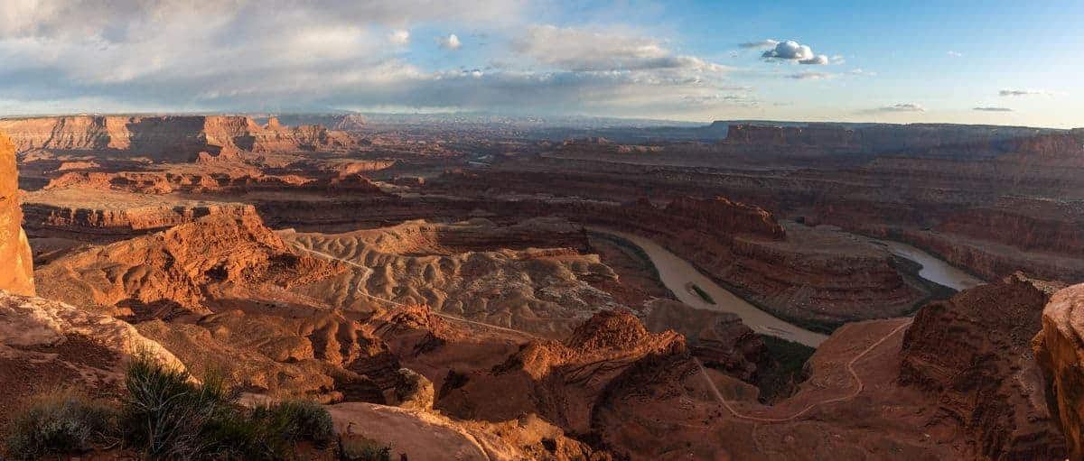 Dead Horse Point at sunset is one of the best times to visit.