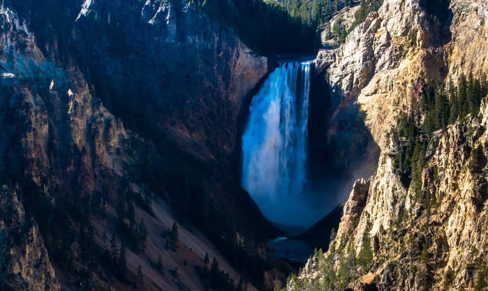 Lower falls in the Grand Canyon of the Yellowstone.