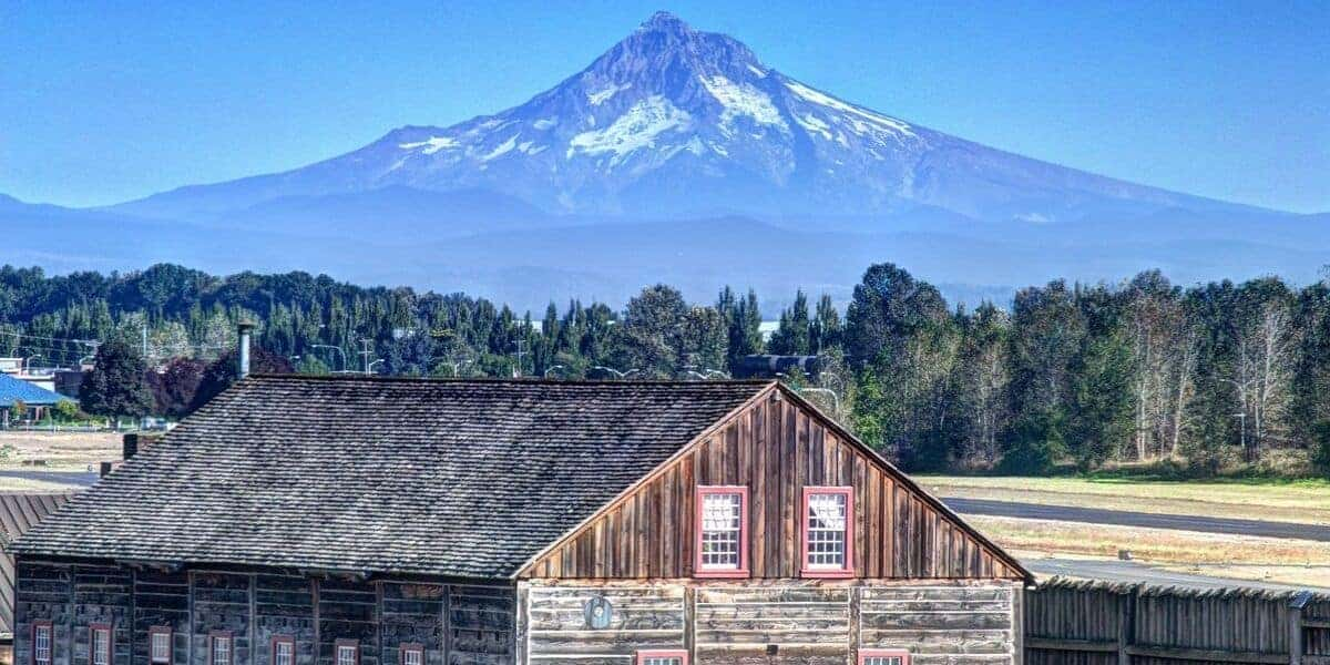 Mt. Hood from Fort Vancouver in Portland.