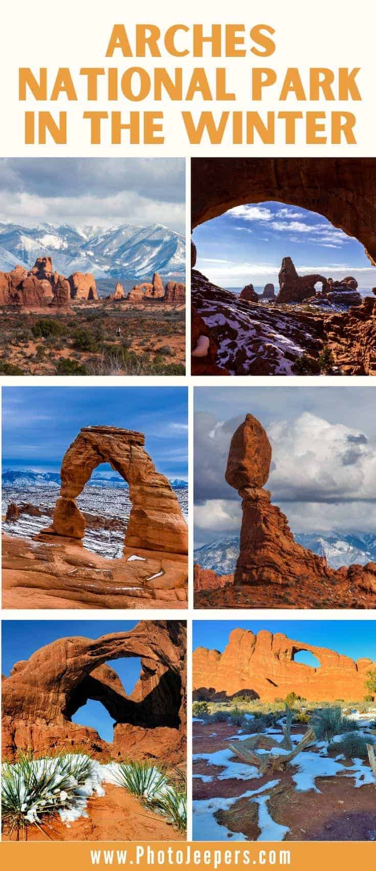 Use this guide to help you plan an amazing trip full of outdoor winter adventures at Arches National Park | Planning a Winter Trip to Arches | What to Pack When Visiting Arches in the Winter | 5 Reasons to Visit Arches in the Winter | Where to Stay in Arches During the Winter #nationalparks #archesnationalpark #wintertravel #photojeepers