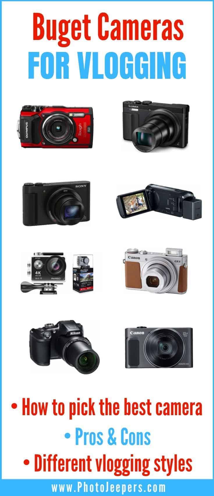 Budget cameras for vlogging