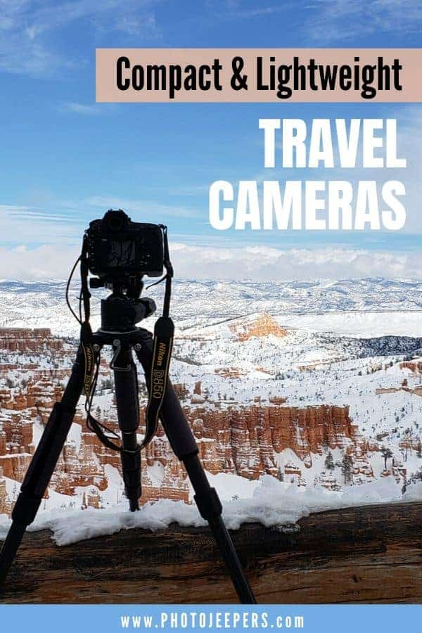 This buyer's guide is for the traveler who wants DSLR quality images, but doesn't want to transport and carry heavy DSLR gear. If you want a travel camera that is easy to carry and gives you pro-quality images of your vacation, then our list of the best compact travel cameras is for you! #photography #travelphotography #camera #cameragear #photojeepers