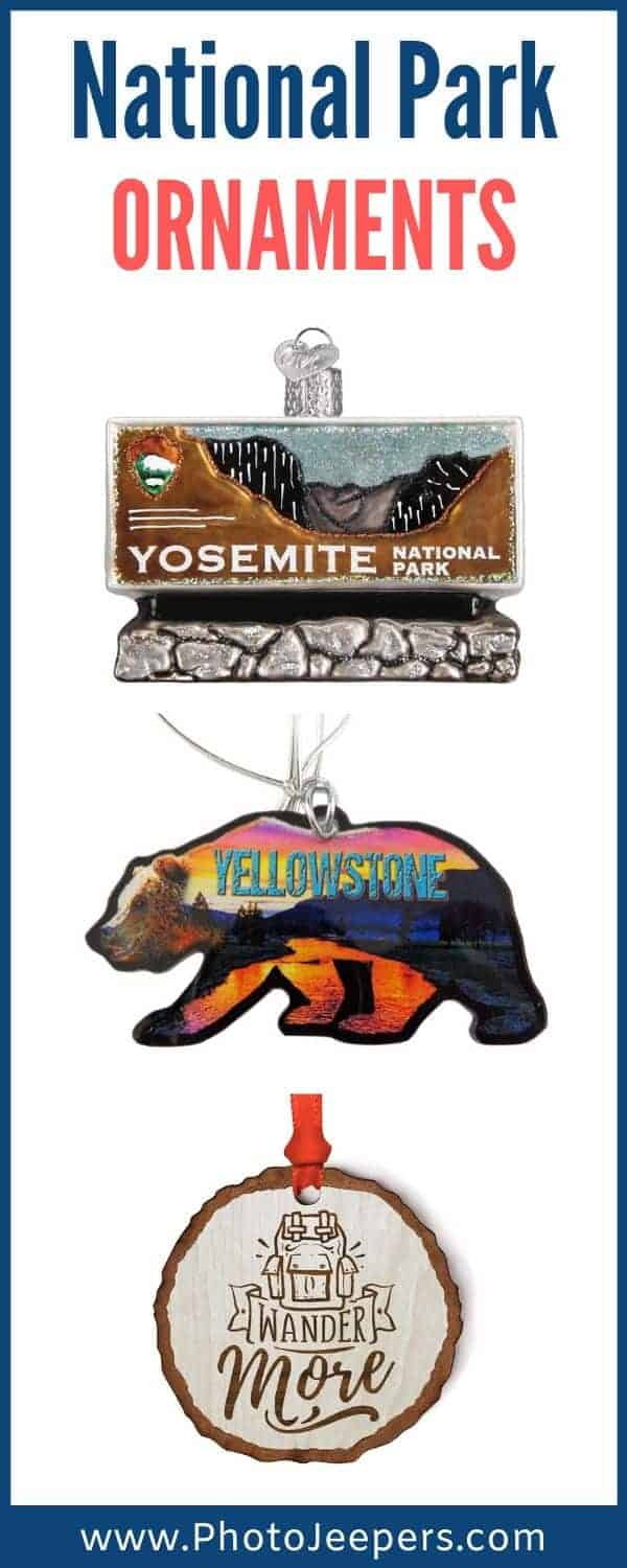 National Park ornaments are the perfect keepsake. Display the ornaments year round to remember you national park trip. Or save the national park ornaments to decorate each year at Christmas. #nationalparks #ornaments #keepsake #photojeepers