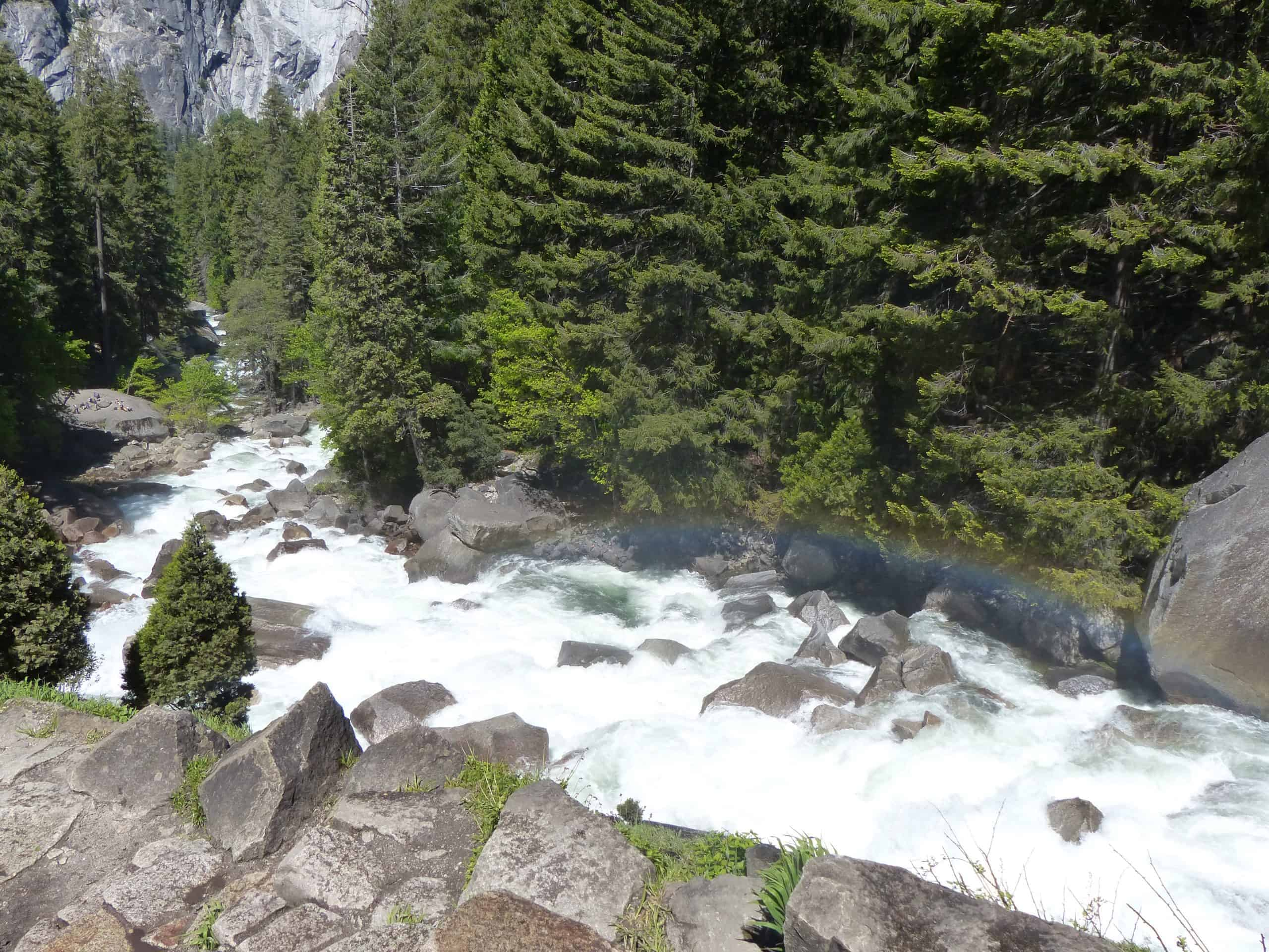 Waterfalls are raging at Yosemite in the spring.